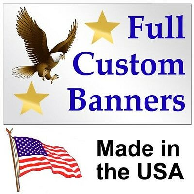 2'x 5' Personalized Banner High Quality Vinyl 2x5 2