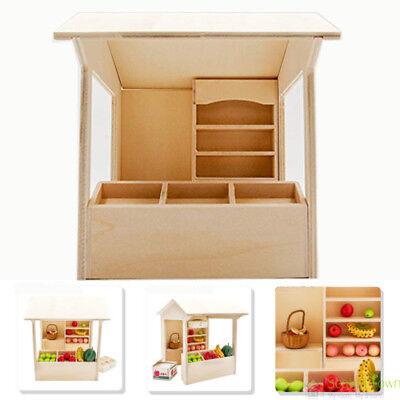 1/12 Dolls House Miniature Bedroom Kitchen Living Room Furniture Set Bed Cabinet 3