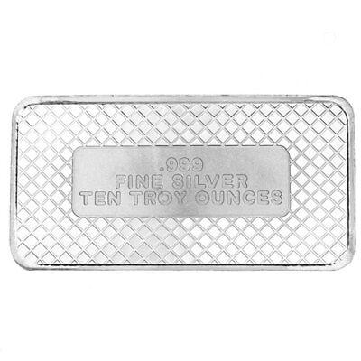 10 oz SilverTowne American Flag Silver Bar (New)
