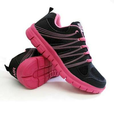 a476546d3d4 2 of 7 Ladies Running Trainers Womens Shock Absorbing Sports Walking  Fashion Gym Shoes