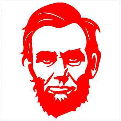 Abraham Lincoln American President Car Bumper Window Vinyl Decal Sticker 10426