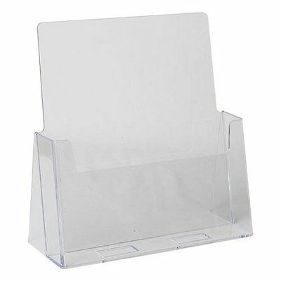 "12-pack of Clear Acrylic 8.5"" x 11"" Countertop Brochure/Magazine Holder Displays"