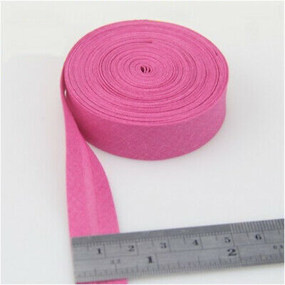 100% Cotton Bias Binding Tape Folded 16mm Wide 5/8 Inch Trimming/Edging/Quilting 10