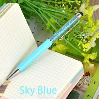 New Diamond Crystal Pen Glittering Ballpoint Stylus Touch Stationery Gift 2 IN 1 11