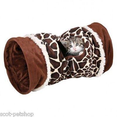 NEW Plush Giraffe Velvet Crunch Cat Play Tunnel 50 cm