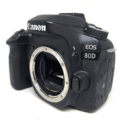 Canon EOS 80D Digital SLR Camera Body (Black) Shutter:168 3