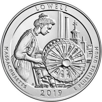 2019 D  ATB Lowell National Historical Park Mass MA Mint Quarter Coins Money 3