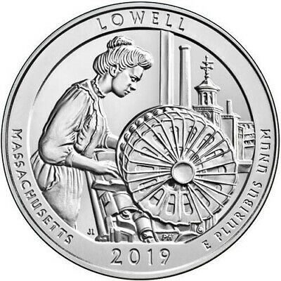 2019 P D S ATB Lowell National Historical Park Mass MA Mint Quarter Coins Money 2