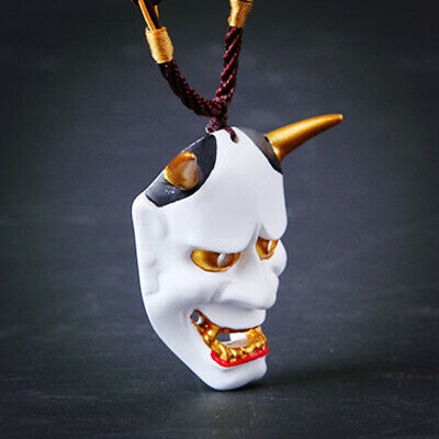 Halloween Mask pendant Necklace  Oni Devil Traditional Japanese Prajna Demon