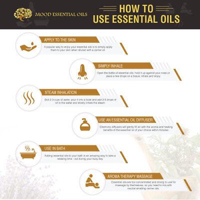 Essential Aromatherapy Oils Natural 10ml Pure Oil Fragrances Diffuser Burner 2