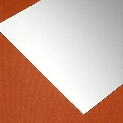 "10 WHITE POLYSTYRENE LIGHT DIFFUSING PLASTIC SHEETS .030/"" X 12/"" X 12/"""