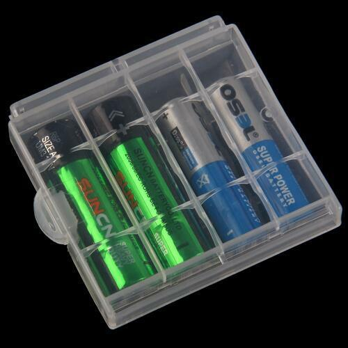 10pcs Hard Plastic Clear Case Cover Holder AA/AAA Battery Storage Box Hot Sale