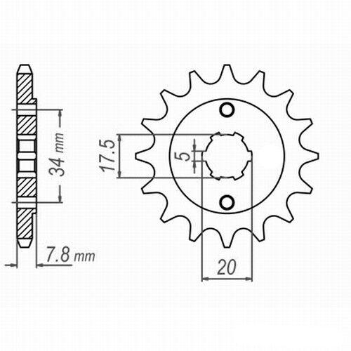 11-13 DID VX X-Ring Clip jc49 Kettensatz HONDA XL 125 V Varadero