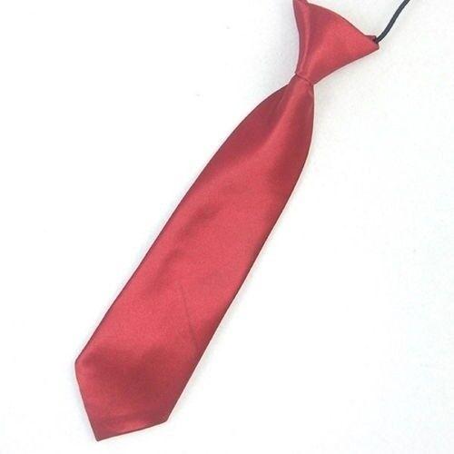 Satin Elastic Neck Tie for Wedding Prom Boys Children School Creative Kids Ties 6