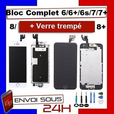 BLOC COMPLET VITRE TACTILE ECRAN LCD IPHONE 6/6 plus/6s/6s+/7/7+/8/8+ NOIR/BLANC 2