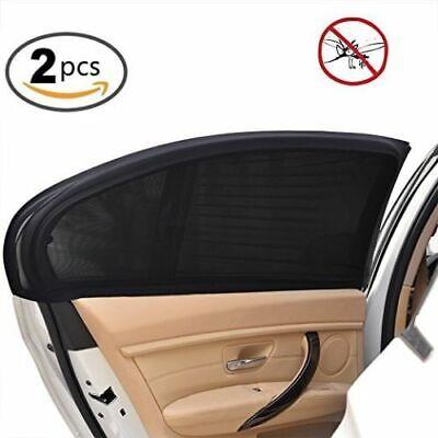 2Pcs Pare-soleil de voiture vitre latérale arrière protection élastique anti-UV 3