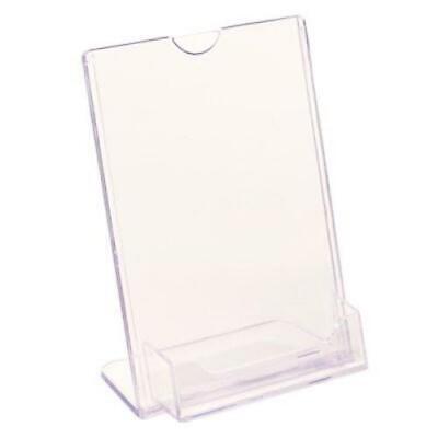 FFR Merchandising Tru-Vu Business Card Styrene Sign Holder, 6 X 4, 4/Pack 2