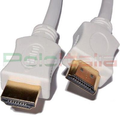Cavo 0,5m HDMI 1.4 High speed 4k Full hd tv pc Xbox360 PS3 PS4 bianco corto 50cm 2