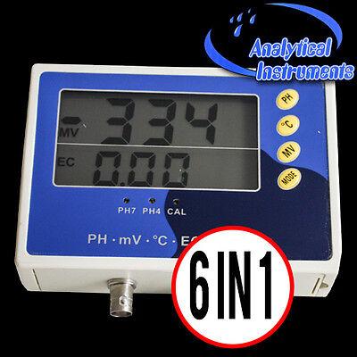 Ph Messgerät Leitwert Leitfähigkeit Redox Temperatur Meter Ec Ppm Aquarium P28 4