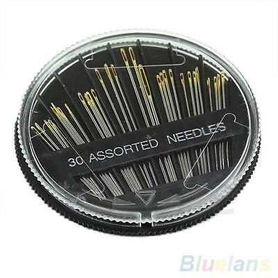 Assorted Hand Sewing NEEDLES -  Embroidery Mending Craft Quilt Case Sew 30pcs UK 9