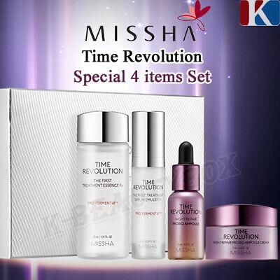 MISSHA Time Revolution Special 4 items Set, Essence + Serum + Ampoule + Cream 2