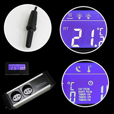 Thermostat Dimmer Zeitschaltuhr Alarm Aquarium/terrarium *display-Extern* Txc 4