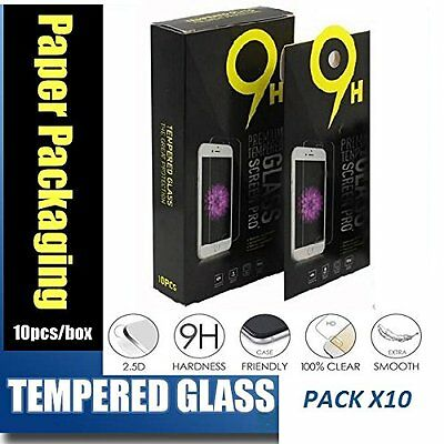Lot of 10 Tempered GLASS Screen Protector iPhone XR 6 8 plus LG ZTE Samsung MOTO