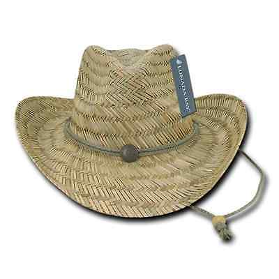 83e347b2471d9 1 DOZEN DECKY Straw Cowboy Hats Hat One Size Unisex Beach Natural Wholesale  Lots -  138.99