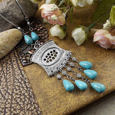 20 style Vintage Women's Tibetan Silver Turquoise Beads String Pendant Necklace 9