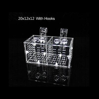 DAKE Aquarium Acrylic Assembled Fish Isolation Box Single/Double, Sucker/Hook