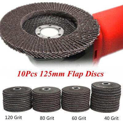 Angle Grinder Flap Sanding Disc 5'' 125mm 40-120 Grit Grinding Wheels 10/40Pcs 5