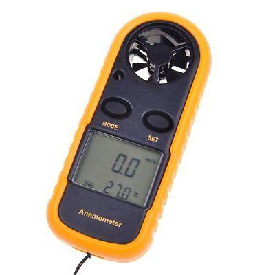 Mini Handheld Digital LCD Wind Speed Meter Thermometer Anemometer Velocity Gauge 4