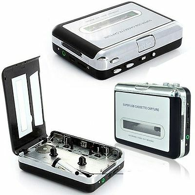 Fashion New USB Audio Cassette Capture Converter Tapes to MP3 by FT Card Walkman