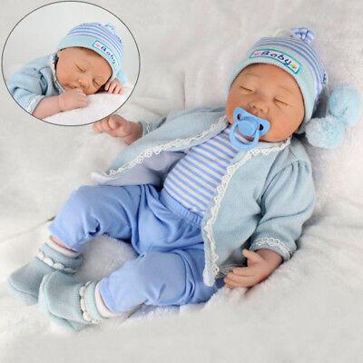 """11//16//22//23/"""" Reborn Newborn Baby Boy Girl Silicone Dolls Kids Child Present Gift"""