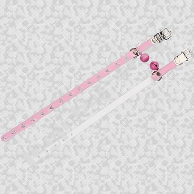 Pink Collar with Diamante Hearts    CCO 02 5