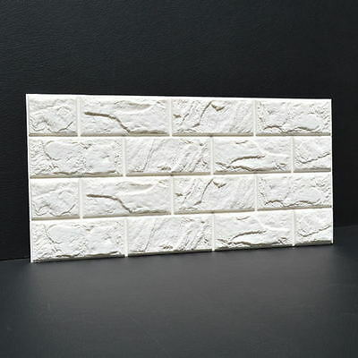 3D Tapete Selbstklebend Steinoptik PE Wandpaneele Ziegelstein Wandaufkleber 3