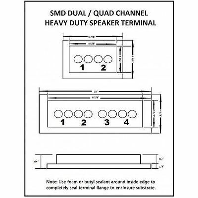Steve Meade SMD Dual Box Terminals Heavy Duty Stainless Hardware PVC Black 4