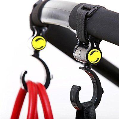 2x Black Clip Hooks for Burley Solstice stroller Hang Shopping Diaper Bags Purse