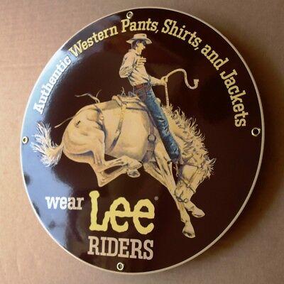 LEE RIDERS Cowboy  Emailschild USA Kansas 80er Jeans MAKELLOS Rodeo Pferd SELTEN