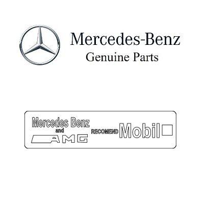 Mercedes-Benz AMG Mobil1 Öl Sticker Aufkleber Logo Emblem A0045849438