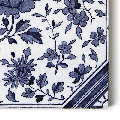 Antique Tile Victorian Aesthetic Japonesque Floral International Tile Delft Blue 5