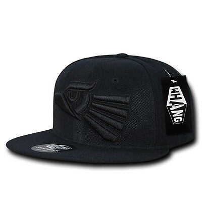 fc4e9051365 ... Black Mexican Hecho En Mexico Eagle Aguila Embroided Flat Snapback Snap Hat  Cap 3