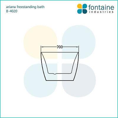 Freestanding Bath 1300 Compact Acrylic White Round Modern Bathtub 6