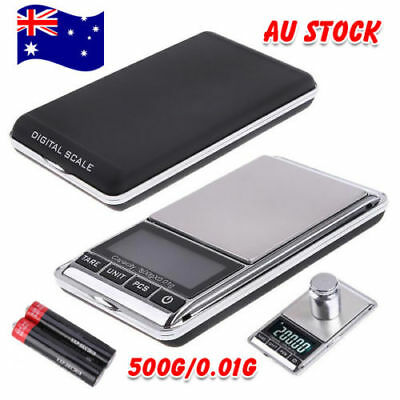 500g 0.01 DIGITAL POCKET SCALES JEWELLERY ELECTRONIC milligram micro mg 2