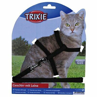Trixie Nylon Cat Harness And Lead Set Collar Adjustable 4185 4