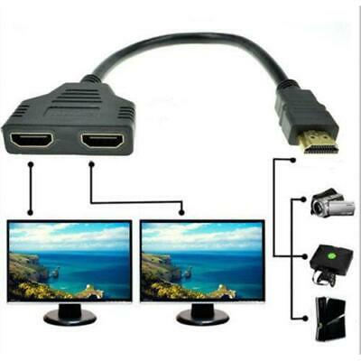 HDMI Splitter 1 In 2 Out Cable Adapter Full HD 1080P Male to 2 Female 3D 6
