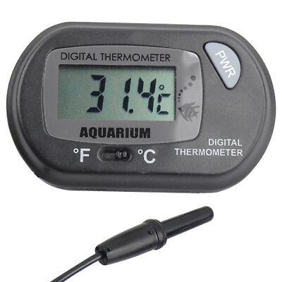 Digital LCD Thermometer Aquarium Fish Tank Vivarium Water Marine Stick On Probe