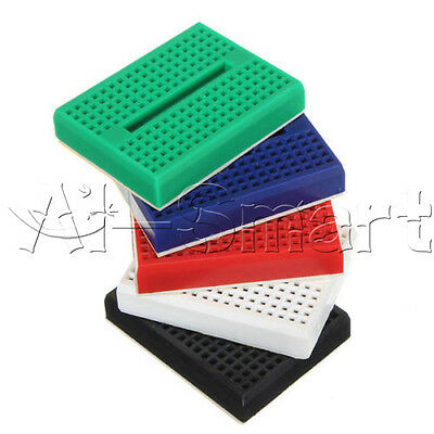 5pcs SYB-170 Mini Breadboard Colorful Breadboard Prototype Board Small Plates 2
