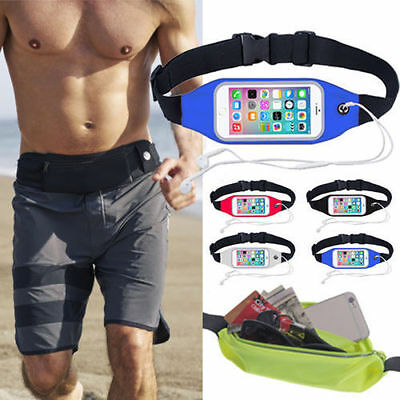 Sports Running Belt Waist Pocket Cycling Jogging Travel Wallet For Smart Phone 2