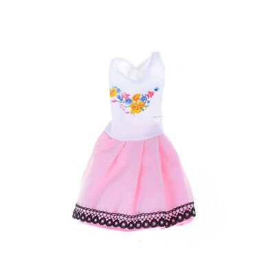6pcs/Lot Beautiful Handmade Party Clothes Fashion Dress for  Doll Decor LY